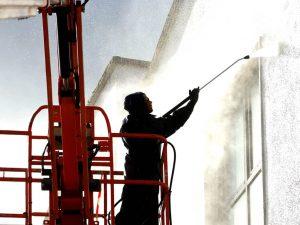 Bina Temizliği Yüksek Basınçlı Su ile Temizlik